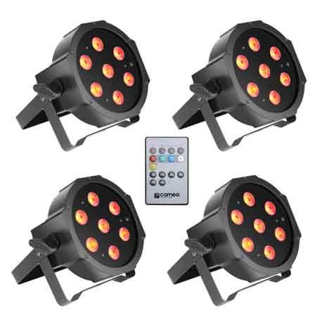 Pack-Éclairage-8-projecteurs-LEDFLAT