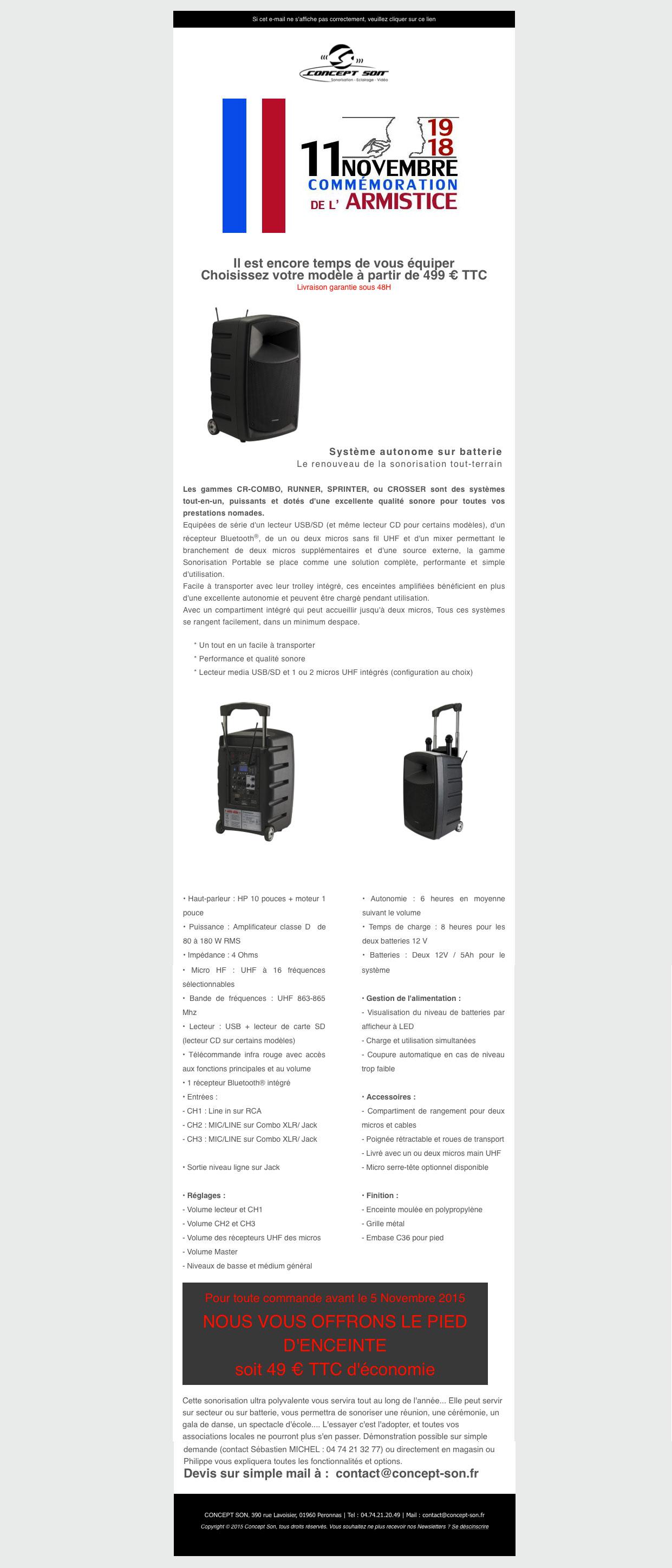 Promo Sonorisation Portable